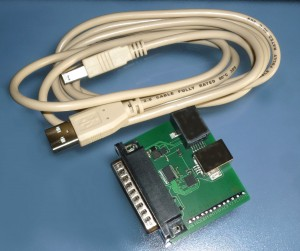 Programming cable connects modems to a PC for easy modem set up